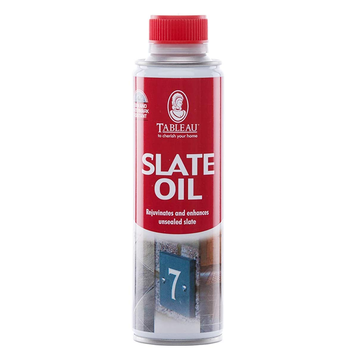 Tableau Slate Oil, 250ml - Rejuvenating Oil for Use on Any Unsealed Slate to Quickly Restore Natural Beauty, Clear