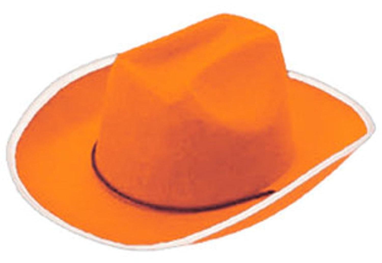Amazon.com: Country Orange Cowboy or Girl Cow Boy Felt Costume Hat ...