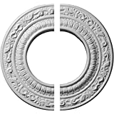 """Ekena Millwork CM08AD2 8 1/8""""OD x 4 1/8""""ID x 1/2""""P Andrea Ceiling Medallion, Fits Canopies up to 4-1/8"""", 2 Piece"""