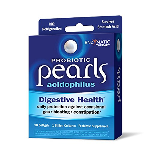 Acidophilus Pearls - Probiotic Pearls Acidophilus Once Daily Probiotic Supplement, 1 Billion Live Cultures, Survives Stomach Acid, No Refrigeration, 90 Softgels (Packaging May Vary)