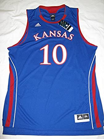 buy online b730c d61a3 Amazon.com : Kansas Jayhawks #10 Blue Adidas 2XL Twill ...