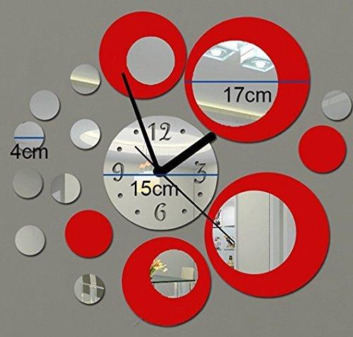 Horloge murale moderne Autocollants Reflections Horloge Autocollants Itian Modernes Miroir Horloge Autocollants DIY chambre decoration Mural