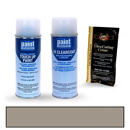 2005 BMW X5 Kalahari Beige Metallic 481 Touch Up Paint Spray Can Kit by PaintScratch - Original Factory OEM Automotive Paint - Color Match Guaranteed (Square Kalahari)
