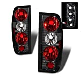 SPPC Black Euro Tail Lights For Nissan Frontier - (Pair)