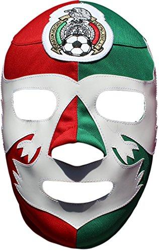 Deportes Martinez Mexico Soccer Team Lycra Lucha Libre Luchador Wrestling Masks Adult (Mexico Mask)
