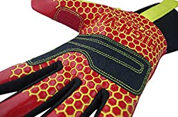 Seibertron HIGH-VIS HRC5 Rigger Grip Cut5 Abrasion Oil & Gas Drilling Safety Impact Protection Gloves CE EN388 3541 M