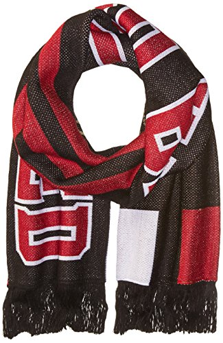 MLS Atlanta United FC Adult Unisex MLS SP17 3 Stripes Jacquard Scarf,OSFA,black (Scarf United Jacquard)