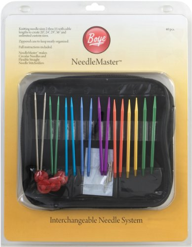 Knitting Interchangeable Circular Needles (Needlemaster 40-Piece Interchangeable Aluminum Knitting Set)