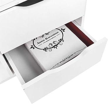 48 * 30 * 53cm Zoternen 3 Piani Comodino Piccolo Comodini Letto in Legno Mobile Bagno in Stile Nordico Comodino Mobile Bagno Bianco