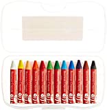 Faber-Castell - Beeswax Crayons in Storage Case - Premium Art Supplies For Kids (12 Count)