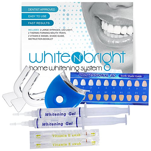 Deluxe Teeth Whitening Premium Kit By White N' Brite - Professional Results Show After One Use - Same Dental-Grade Formula Used By Dentist