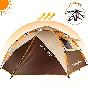 ZOMAKE Instant Tents for Camping 2 3 4 Person – Waterproof Dome Tent with Carry Bag, Automatic Hydraulic Pop Up Tent – Easy Setup in 60s