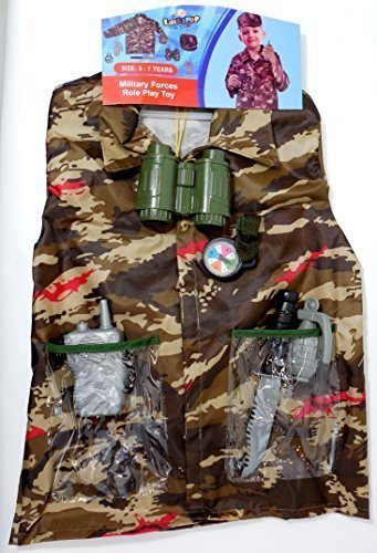 Lollipop Toys Military Forces Army Man Role Play Costume Toy Kit 4 - 7 Years ()