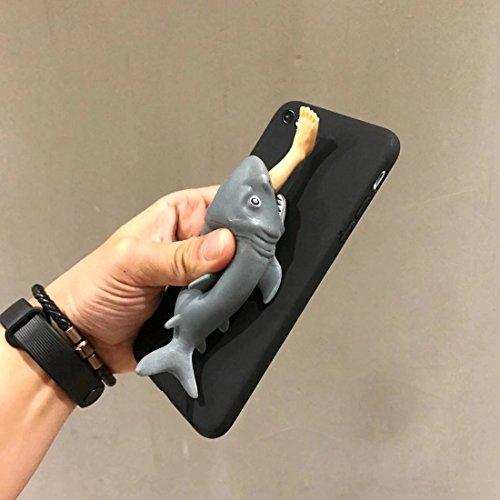 Mobiltelefonhülle - Für iPhone 6 Plus & 6s Plus Persönlichkeit 3D Silikon-Mann Essen Shark Schutzhülle Rückseite