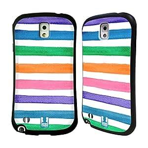 Head Case Designs Colour Bands Watercoloured Stripes Hybrid Gel Back Case for Samsung Galaxy Note 3 N9000 N9002 N9005