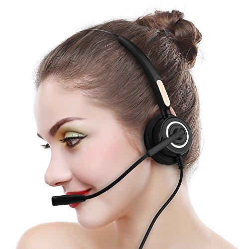 [해외]USB 연결 Mugast 콜센터 헤드셋 마이크가 가볍고 인체 공학적 디자인 180 ° 회전 하는 낮은 잡음 고음질 업무 무선 전화 헤드셋 / Light weight ergonomic design with USB connection Mugast call center headset microphone 180 ° rotary low no...