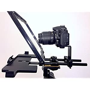 Teleprompter Simple Professional Portable use any tablet, iPad or phone. 70/30 Beam Splitter Glass.