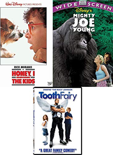 The Fairy and Family Adventure DVD Movie Bundle Disney Mighty Joe Young & Honey I Shrunk the Kids & Tooth Fairy Triple Feature Favorites Pack