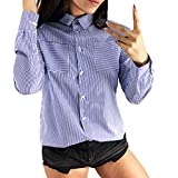Clearance Women Shirts Teen Girls Casual Lapel Blouse Sweatshirt Plluover Tops for Autumn