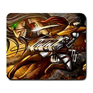 Shingeki No Kyojin Attack On Titan Anime Funny & Cute Rectangle Mouse Pad Joie 43