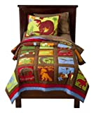 Dinosaur Roar Kids Twin Quilt & Sham Set