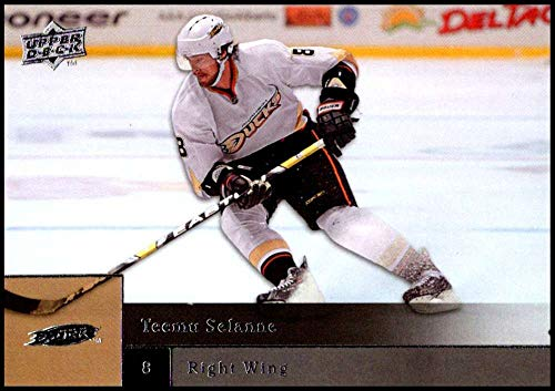 (2009-10 Upper Deck Hockey Series 1#145 Teemu Selanne Anaheim Ducks Official NHL UD Trading Card)