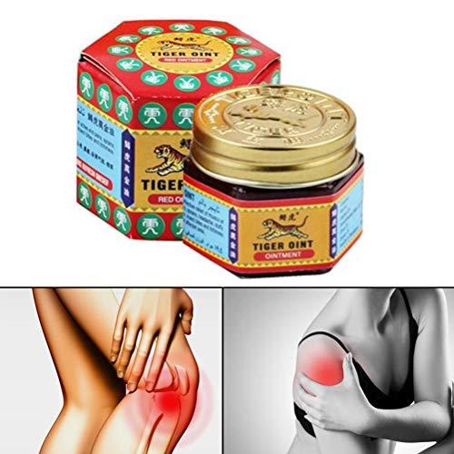 Crema de Tigre, 19.4 g de Aceite Esencial Muscle Relax para aliviar el Dolor de tendones, Dolor de Espalda, Dolor de Nervios, mareos, picadura de Mosquito