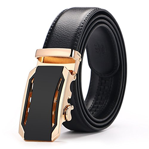Iztor Men's Belts Leather Ratchet Dress Belt with Automatic Buckle 1 3/8'' Wider for from 20'' to 43'' Waist by iztor (Image #7)