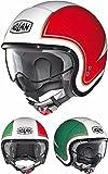 Nolan ノーラン N21 Tricolore Demi Helmet 2016モデル ヘルメット ホワイト/レッド/グリーン M(57~58cm)