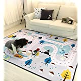 Baby Play Mat for Kids, Large Learning Carpets Kid's Baby Educational Road Traffic Area Rugs for Bedrooms, 59''x79''