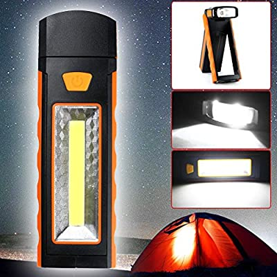 TAIYIdz 250 Lumens COB LED Work Light Portable Inspection Flashlight with Strong Magnetic and Hook for Camping Household Workshop Automobile