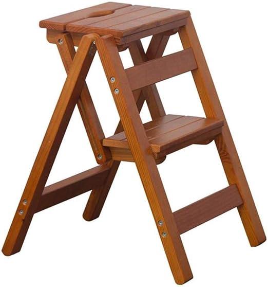 XITER Escaleras Taburete |Escalera de Madera con peldaño |Taburete Plegable Multiusos |Taburete for Cocina/Oficina/Biblioteca: Amazon.es: Hogar