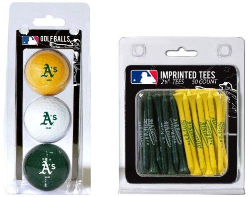 Team Golf MLB Oakland Athletics Logo Imprinted Golf Balls (3 Count) & 2-3/4