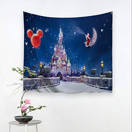 BACCESSOR Christmas Tapestry Xmas Santa Claus Sled Deer Tapestries Holiday Tapestry Wall Hanging for Living Room, Bedroom, Dorm Room - 60