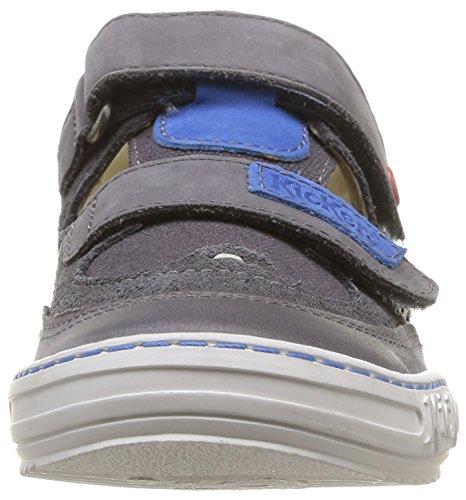 Kickers Jykroi Jungen Sneaker Gris (Gris Foncé/Bleu)
