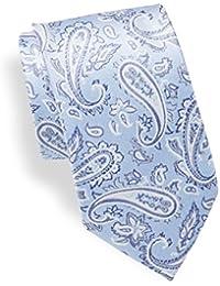 Mens Paisley Silk Tie, OS, Light Blue