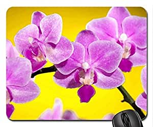 Orchids Mouse Pad, Mousepad (Flowers Mouse Pad, Watercolor style)