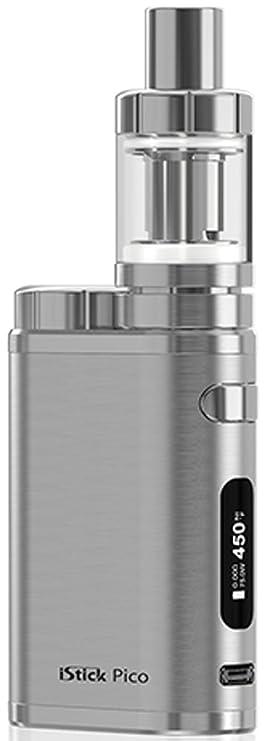 Eleaf iStick Pico TC 75W / MELO 3 Mini Kit Brushed Silver (sin nicotina, sin tabaco): Amazon.es: Salud y cuidado personal