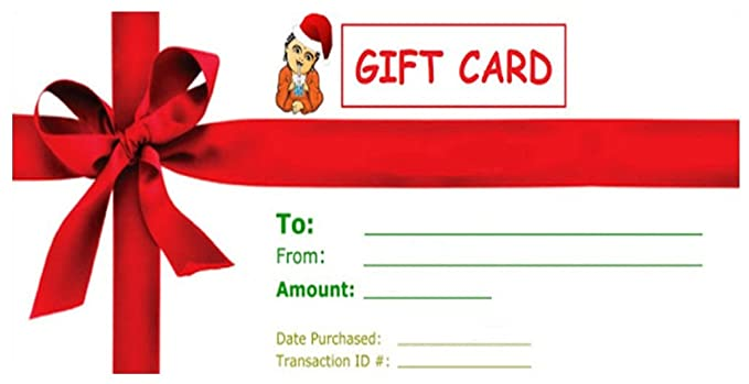 Christmas Gift Certificate Card By Buddha Bubbles Boba 35 00 Amazon Com Grocery Gourmet Food