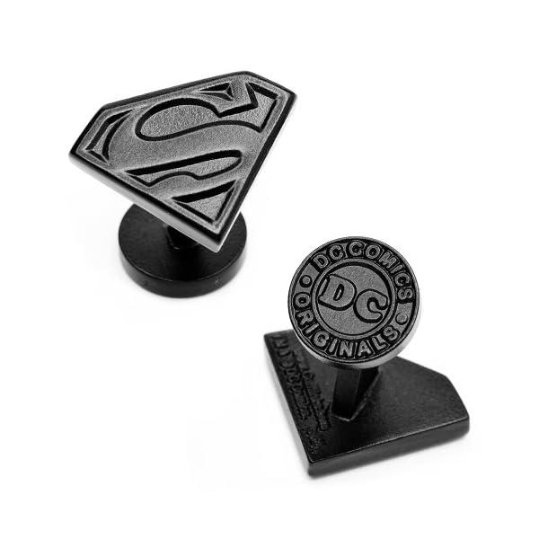 Satin-Black-Superman-Shield-Cufflinks