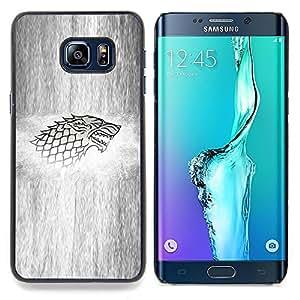 SKCASE Center / Funda Carcasa protectora - Lobo Sigil;;;;;;;; - Samsung Galaxy S6 Edge Plus / S6 Edge+ G928
