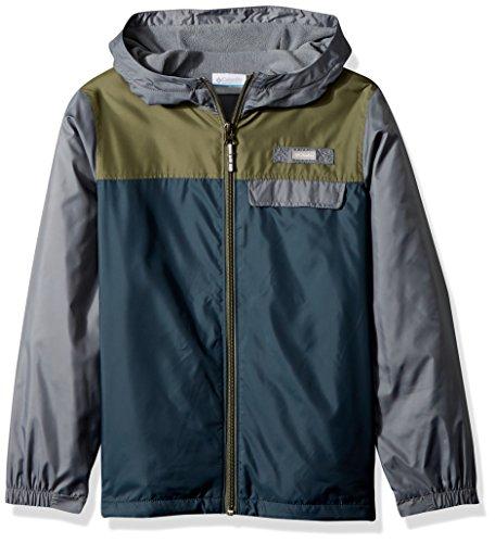 Columbia Mountain Side Lined Windbreaker Jacket, Mystery/Cypress, Small