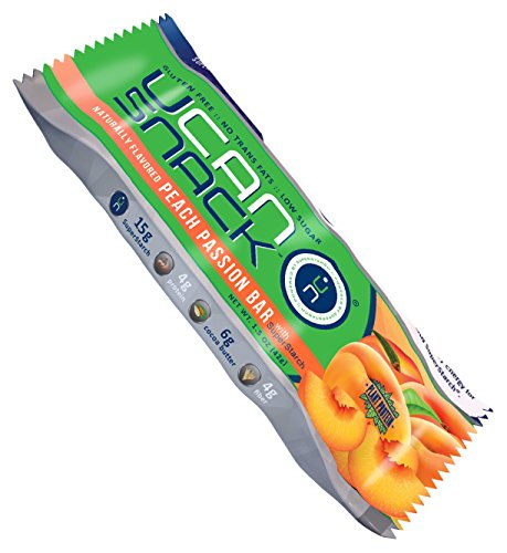 Generation UCAN Snack Bar Box, Peach Passion, With UCAN SuperStarch ®, Low Sugar, Gluten-Free, Plant Protein, No Trans Fats, Naturally Sweetened, 1.5 Ounces, 12 Count