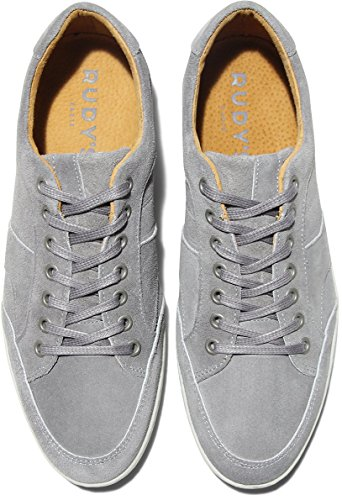 Chaussures basket sneakers albi velours gris Rudy's