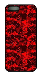 Case For HTC One M8 Cover s & Covers Red Digital Camo HAC1014426 Custom PC Hard Case For HTC One M8 Cover Black