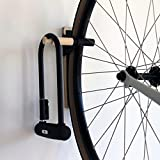 IPPINKA Lift Multi-Use Bike Hook with Bottom Guard, Black – Minimalist Wall Storage Hook, Indoor Bike Rack