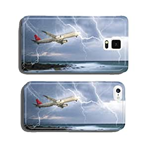 jet travelling through rainy stormy sky cell phone cover case iPhone6 Plus
