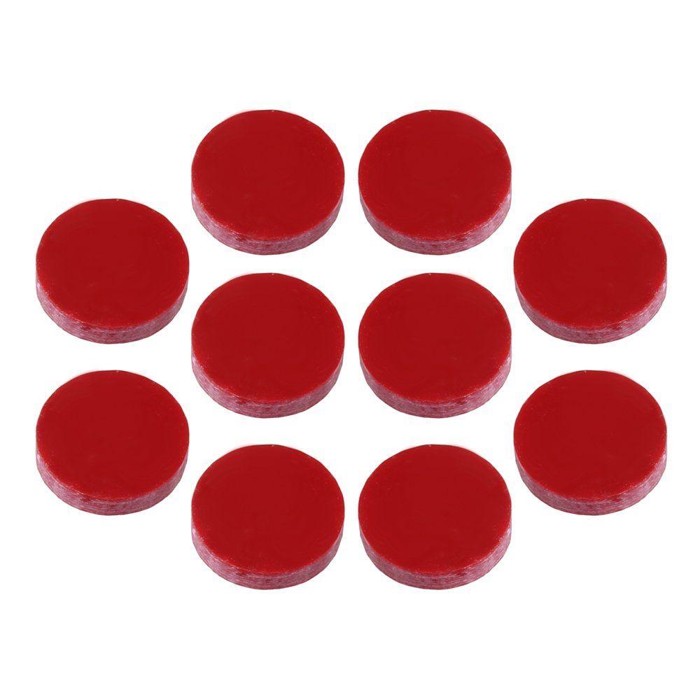 Yibuy 5x1.4mm Red Guitar Dots Inlay Fretboard Markers for Guitar Set of 10 etfshop YB2795