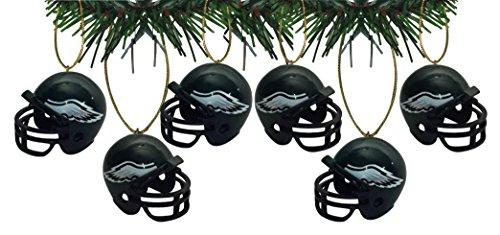 - Philadelphia Eagles Football Helmet Ornaments Set Of 6