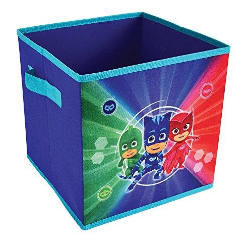 Fun House 712934Storage Bin with Handles, PP/Cardboard/Frame, Plastic, Blue, 28x 28x 28cm